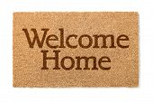 Welcome Home Mat Isolated On A White Background. poster