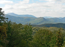 picture of smoky mountain  - Mountain view of the Great Smoky Mountains - JPG