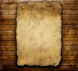 picture of wild west  - old paper on brown wooden texture - JPG