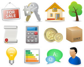 picture of real-estate agent  - Real Estate Icon Set  - JPG