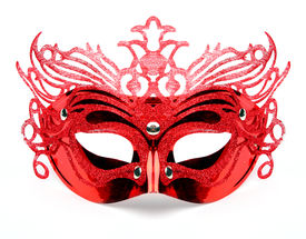 pic of masquerade mask  - Decorated mask for masquerade on white background - JPG