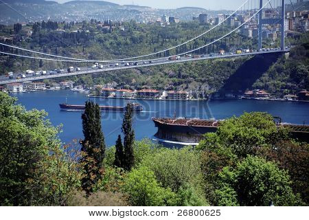 Bosphorus Bridge, marmara sea in istanbul, Turkey