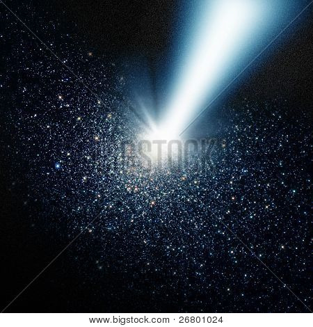 an image of a light beam in the dark