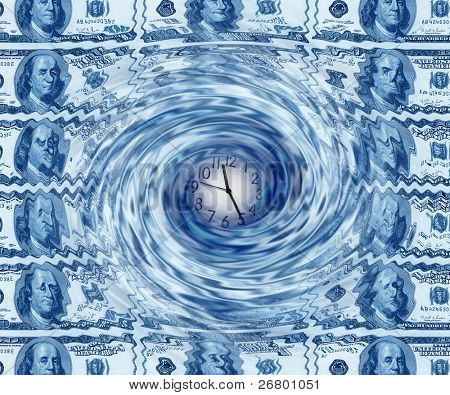 close up shot of  an American dollar background