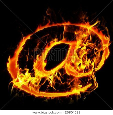Burning Email Sign