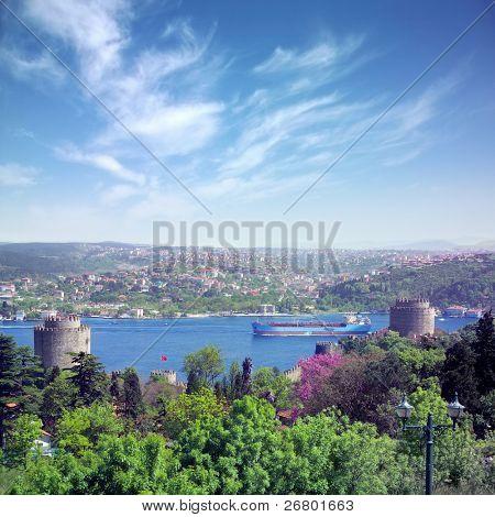 an image of Rumeli Castle in Istanbul,Turkey