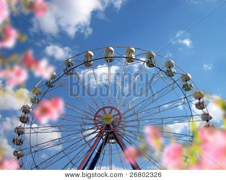 an image of wheel ferris in the park