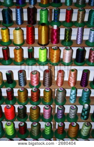 Thread Spools Front View
