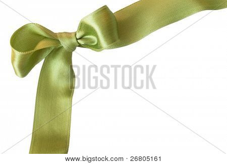 green sateen bow