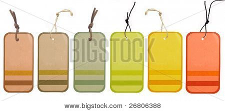 collection of price tag or address label