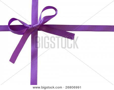 purple bow isolated on white