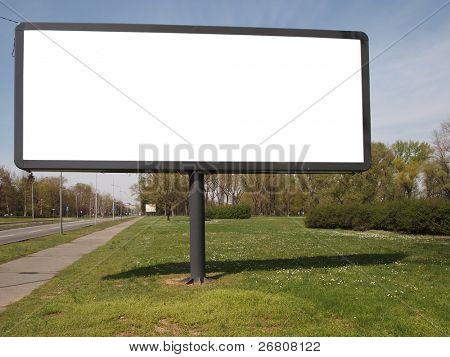cartelera vacía para el anuncio