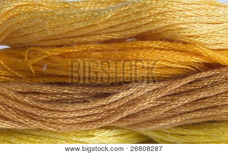 yellow yarns background