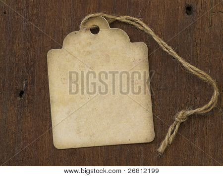 vintage label on the wooden background
