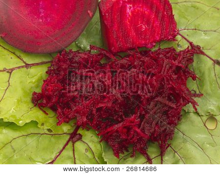 beet root on the leaf