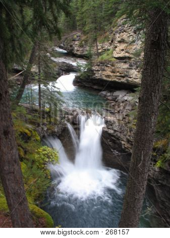 Twin Falls, Johnston Canyon - Banff National Park, Alberta, Canada