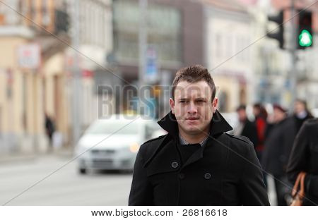Businessman In A City