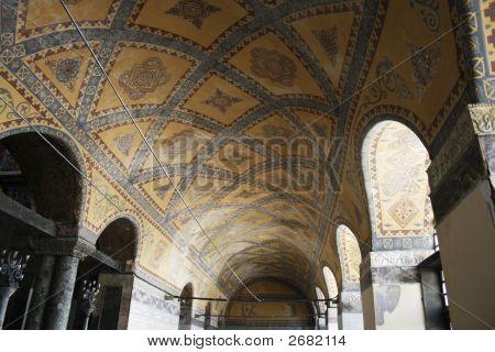 Arched Corridor In Aya Sofia Istanbul
