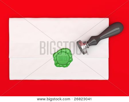 The Letter Sealed By A Sealing Wax Stamp.