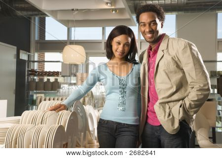 Couple In Retail Store.