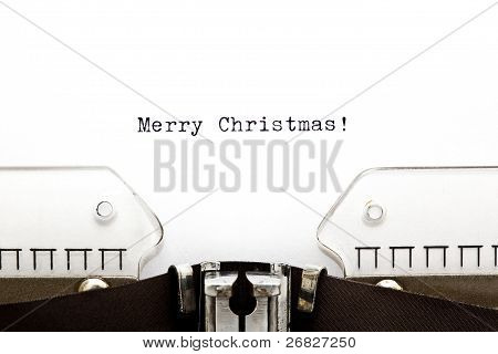 Feliz Natal em máquina de escrever