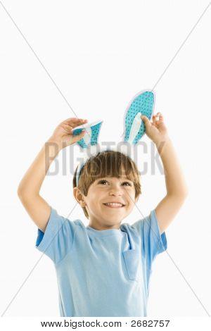 Boy In Bunny Ears.