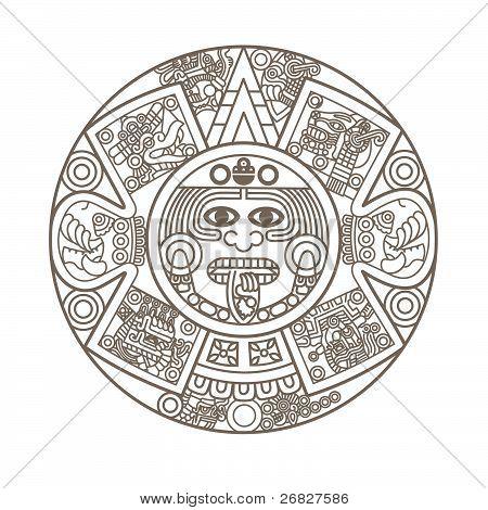 Calendario Azteca estilizada