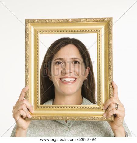 Woman In Frame.