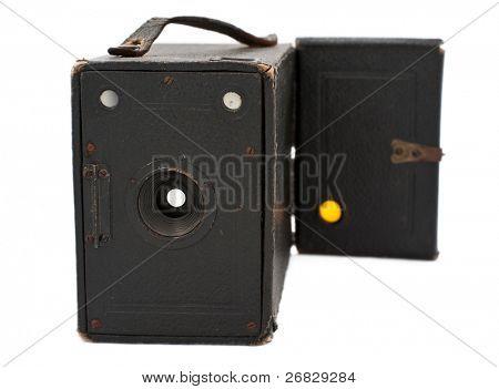 Vintage Pinhole photo camera isolated on white background