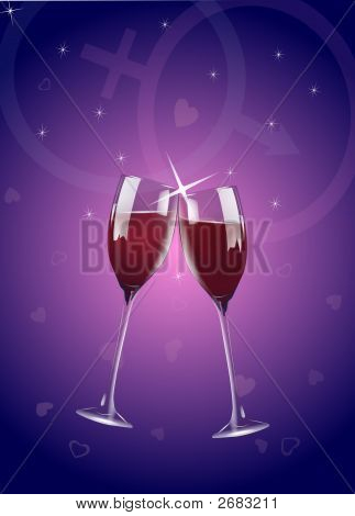 Romantic Wine Toast