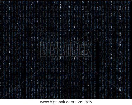 Binary Matrix Blue Background