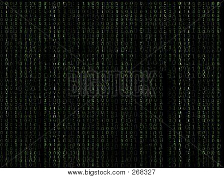 Binary Matrix Green Background