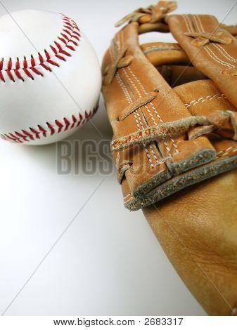 Baseball And Mitt-Vertical