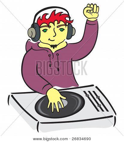 DJ detrás de consola