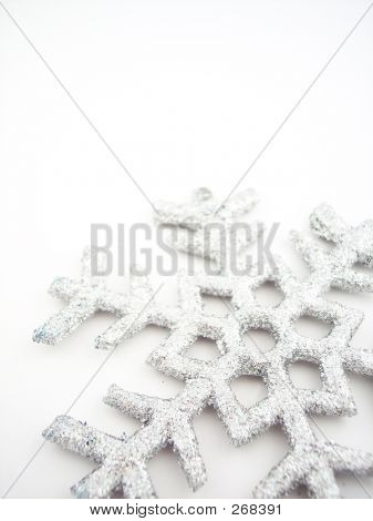 Copo de nieve de plata 3