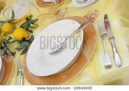 Festive table decoration