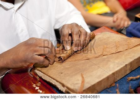 Cigar making - national cuban industry