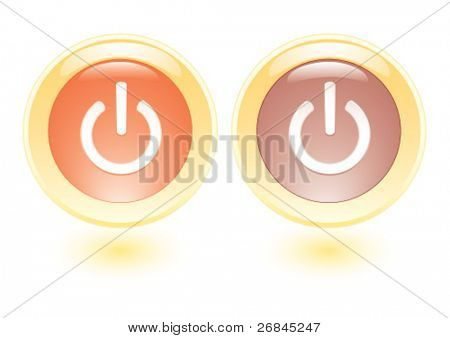 Vector collection icons with power on sign
