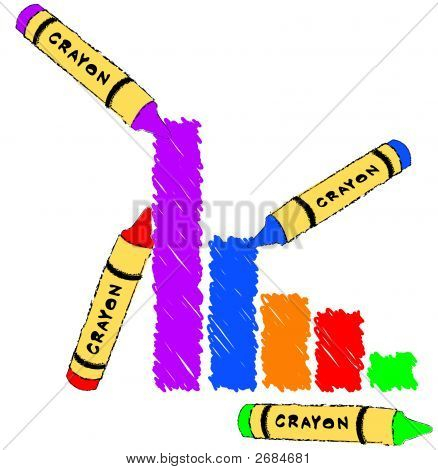 Bar Graph With Crayon Scribble