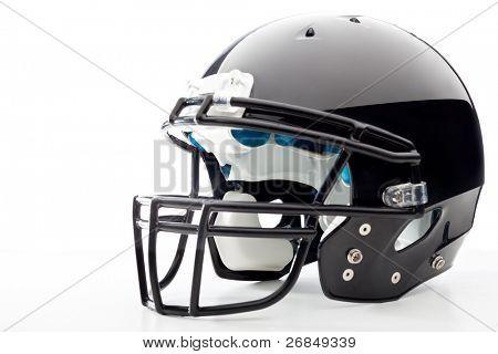 Fußball-Helm auf weiß