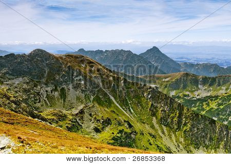 Summer mountain landscape in the Polish Tatry