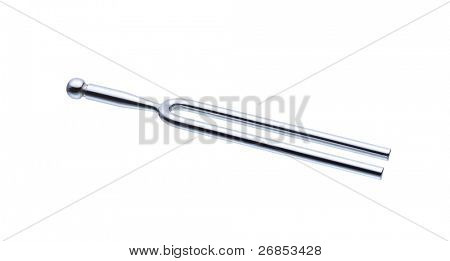 Tuning Fork on white with soft shadow