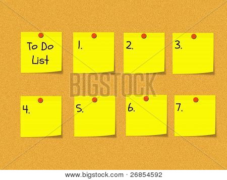 To Do List On Bulletin Board