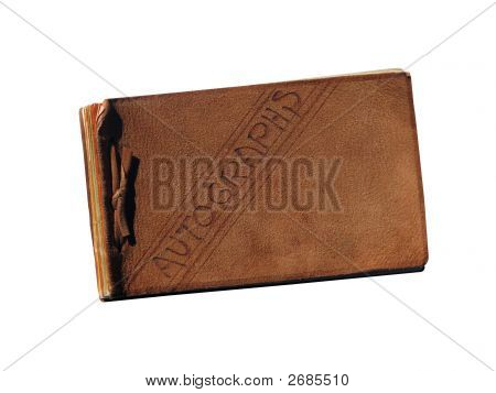 Vintage Leather Autograph Book
