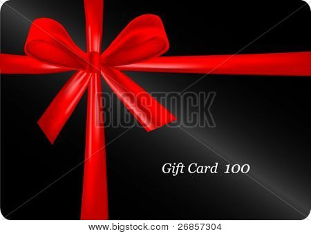 Vector of gift card (as present)