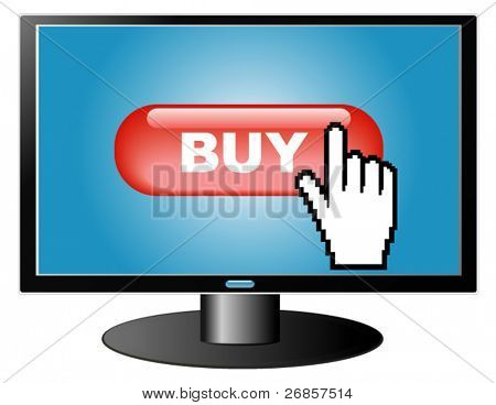 e-commerce concept, buying in Internet