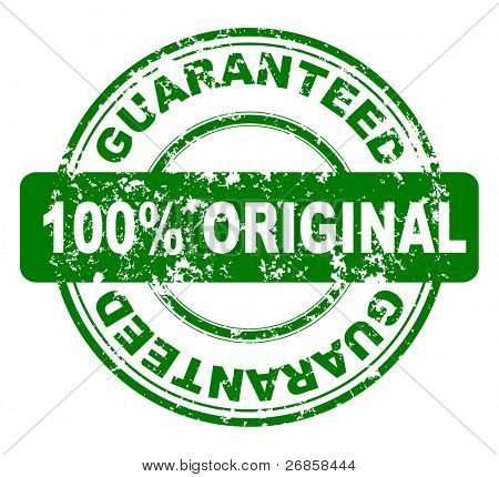 Grunge stamp with 100% guaranteed, jpg