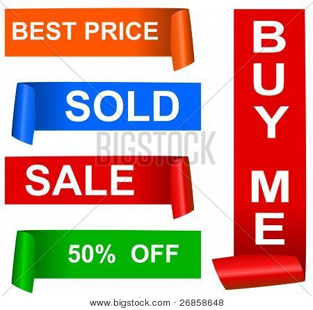 Color sale sticker set, (jpg)