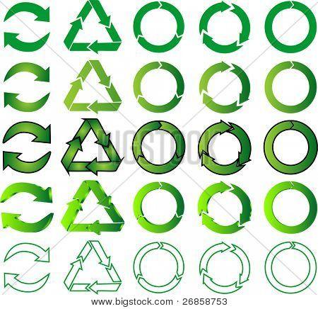 mezcla de reciclaje iconos (jpg)