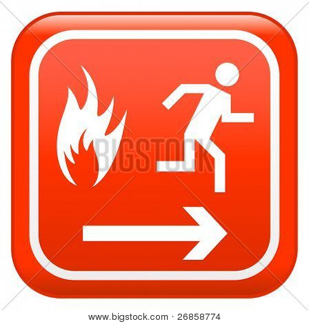 Emergency fire safety sign